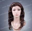 HR2-18NW#2DZ 18 Inch Natural Wave Silk Top Indian Human Hair Lace Front Wig