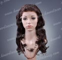 HR3-20BW#2 20 Inches Body Wave Indian Human Remy Hair Lace Front Wig