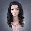 HS6-18BW#1B 18 inches body wave synthetic hair lace front wig