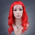 HS7-18BW(RED) 18 inches fashion synthetic hair red lace front wig
