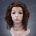 HS8-16JC#30  fashion synthetic hair Jerry Curl lace front wig