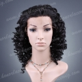 HS10-14DW#1B  fashion synthetic hair deep wave lace front wig
