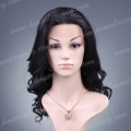 HS11-16BW#1B 16 inches synthetic hair body wave lace front wig