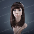 HR-S1   16 inches silky straight mix color synthetic hair wig