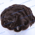 HT7-6W#2 6 inches human hair wave Men's toupee