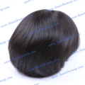 HT10-8ST#1B 8 inches Chinese remy hair Men's toupee