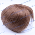 HT11-6ST#4 Silk straight right part high quality human hair Men's toupee