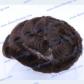 HT13-6SW#4 Small wave human hair #4 Men's toupee