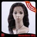 F706-16NW#1B  16 inches natural wave natural black full lace wig