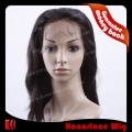 F717-16NW#NC  Natural color 16 inches natural wave full lace wig