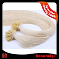 HX2-20#613SST  20 Inches Silk Straight Chinese Human Remy Hair U tip Nail Hair Extension