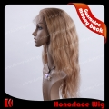 S722-18BW#8M#27  Silk top 18 inches body wave mix color full lace wig