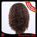 F723-18JC#4  18 inches jerry curl brown full lace wig for black women