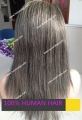 100%  Indian Remy hair gray hair  full lace wig