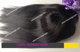 High quality black straight women toupee human indian hair toupee in stock